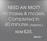 Need an MOT? All makes & models. Completed in under 40 minutes. Just £29.