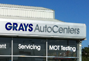 Grays AutoCenters Car Servicing, MOTs, Cheap Tyres, Brake Replacements, Car Air Conditioning Service, Exhaust Fitting, Wheel Alignment and Car Diagnostics workshop