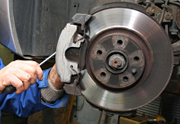 Brake Fitting being conducted at Grays AutoCenters - new brakes, brake pad fitting and brake disc fitting