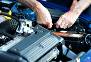 MOT test check being conducted at Grays AutoCenters Approved MOT Test Centre