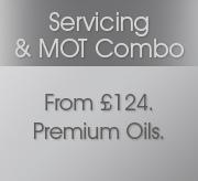 Car Service & MOT Special Offer Just £99 inc VAT, parts and labour completed in 40 minutes