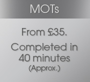 MOTs Special Offer Just £29 inc VAT, parts and labour completed in 40 minutes