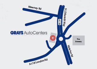 Find Grays Auto Centers - Map